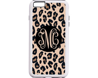 Monogram Leopard iPhone Case - Black