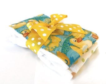 Ducky Baby Burp Cloths - Baby Shower Gift