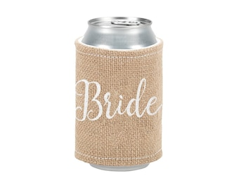 Bride Burlap Drink Wrap
