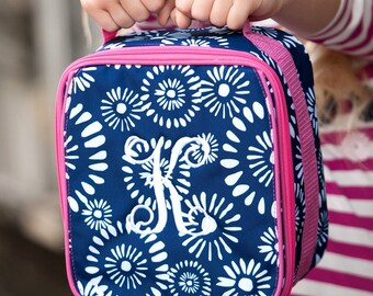 Riley Monogrammed Lunch Box, Monogram Lunch Bag, Back to School