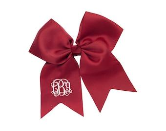 Garnet Monogram Jumbo Hair Bow, Personalized Girl's Bows