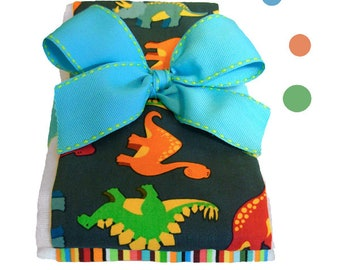 Dino Baby Burp Cloths With Optional Personalization