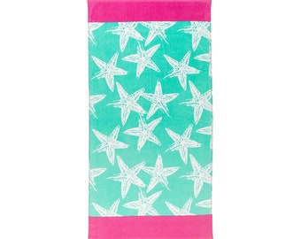 Seastar Beach Towel, Optional Embroidery Personalization