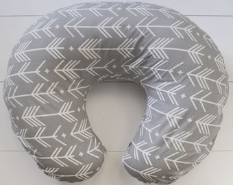 Grey Arrow Nursing Pillow Cover (for Boppy pillow)