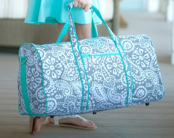 Parker Paisley Monogrammed Duffel Bag, Personalized Bag