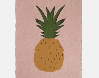 Pineapple Fruiticana Cotton Blanket