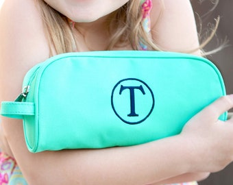 Mint Monogrammed Pencil Pouch, Back to School