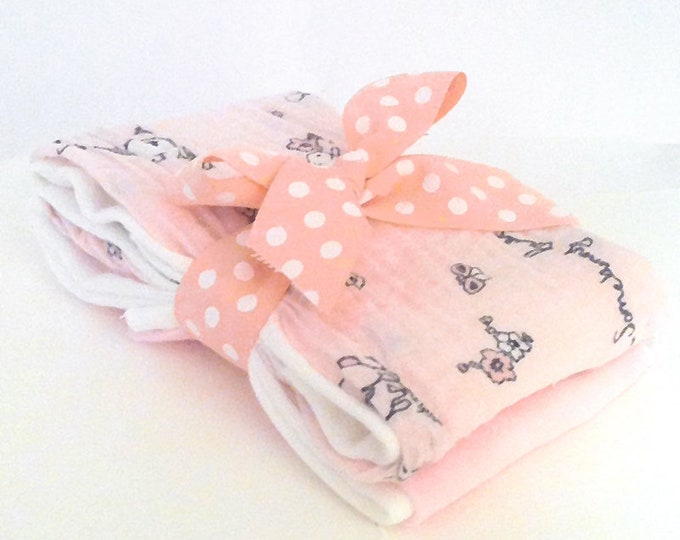 Featured listing image: Somebunny Loves Me Muslin Gauze Burp Cloths - Baby Shower Gift