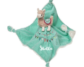No Drama Llama Personalized Lovie Blanket for Baby