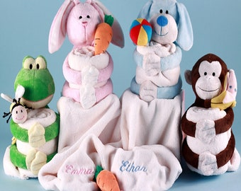 Hug-A-Buddy Baby Blankets - Optional Personalization