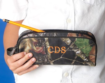 Woods Boys Monogrammed Pencil Pouch, Back to School