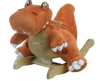 Rex The T-Rex Plush Musical Rocker (Optional Personalization)