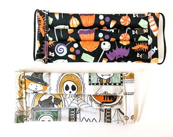 Kids Social Comfort Fabric Face Masks - Halloween Designs