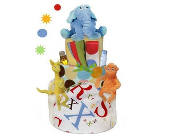 Dr. Seuss Diaper Cake - Baby Shower Centerpiece and Gift