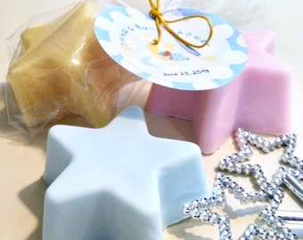 Star Soap Party Favors, Gift Wrapped, Personalized Gift Tag