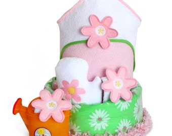Flower Power Diaper Cake Baby Gift