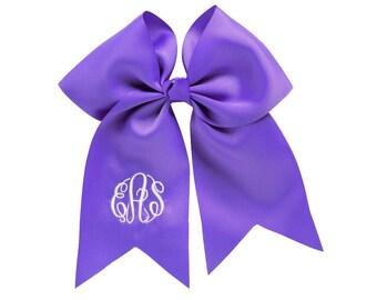 Purple Monogram Jumbo Hair Bow, Personalized Girl's Bows