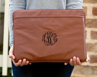 Camel Monogrammed Laptop Sleeve, Personalized Computer Case