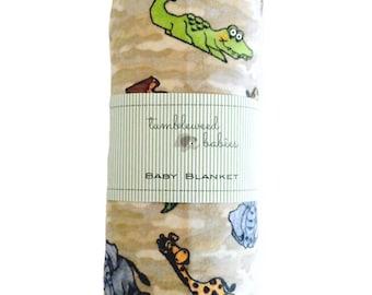 Jungle Baby Receiving Blanket /Swaddle Blanket/Newborn Flannel Blanket