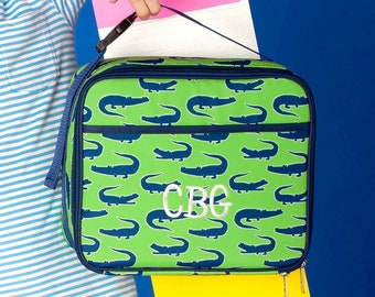 Later Gator Boys Monogrammed Lunch Box, Monogram Lunch Bag, Back to School