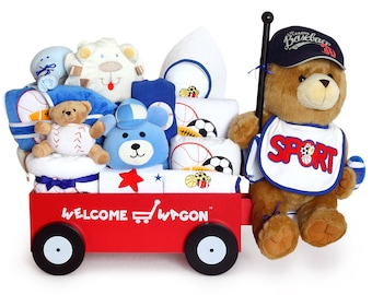 Sports Super Deluxe Welcome Wagon Baby Boy Gift