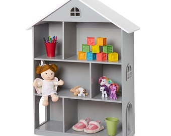 Dollhouse Bookcase Grey