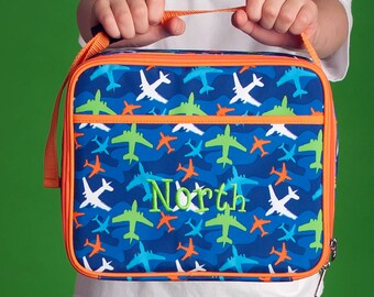 Take Flight Boys Monogrammed Lunch Box, Monogram Lunch Bag, Back to School