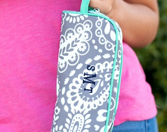 Parker Paisley Girls Monogrammed Pencil Pouch, Back to School