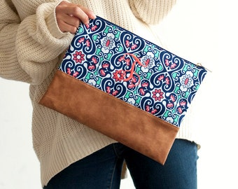 Blakely Zip Pouch, Personalized Cosmetic Bag/Clutch