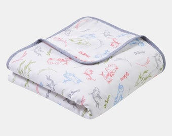 Dr. Seuss™ New Fish Luxe Muslin Blanket