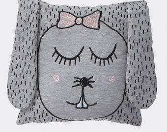 Little Ms. Rabbit Organic Cushion