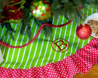 Merry and Bright Christmas Tree Skirt