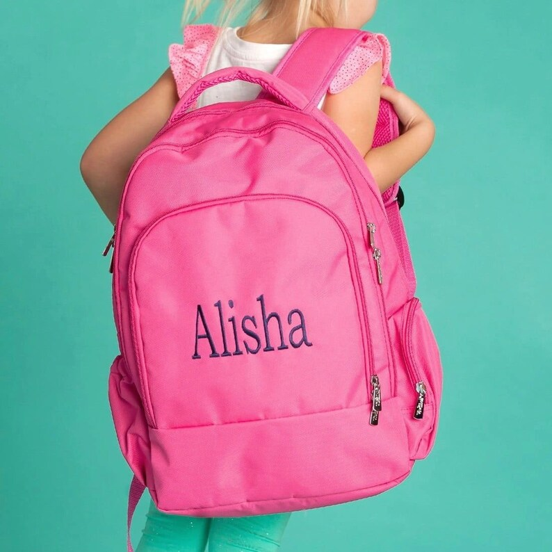 Optional Personalization Hot Pink Backpack
