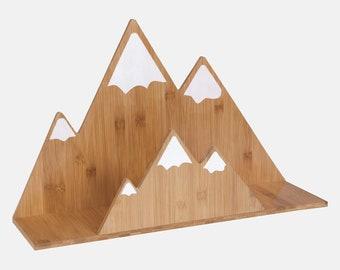 Bamboo Mountain Wall Shelf