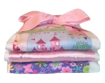 Fairy Tale Princess Burp Cloths - Baby Shower Gift