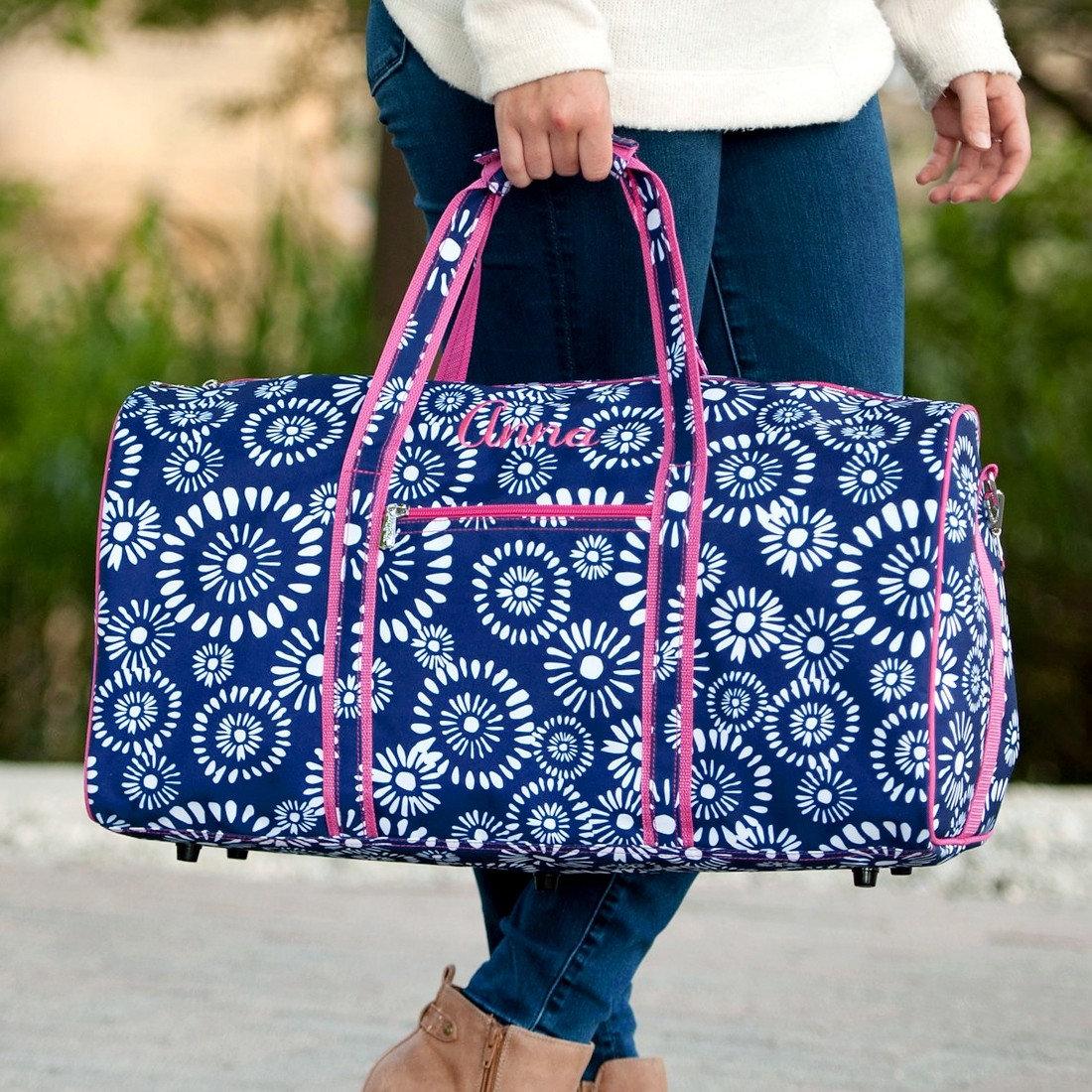 Riley Monogrammed Duffel Bag, Personalized Bag 7319ad1f66