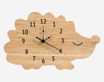 Bamboo Hedgehog Wall Clock