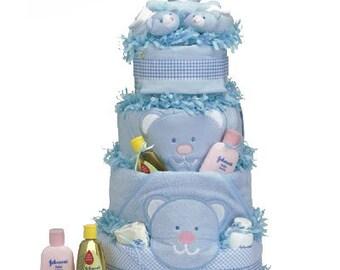 Blue Bear Supreme Diaper Cake Baby Gift