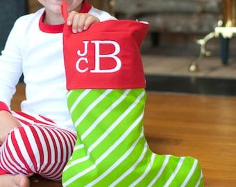 Bright Stripe Christmas Stocking