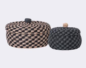 Hand Braided Storage Baskets - Set of 2