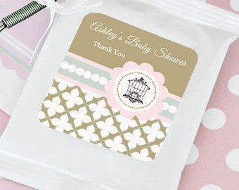 Birdcage Hot Cocoa Personalized Favor Packs + Optional Heart Whisk