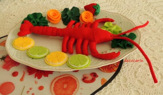 Felt Food Toys R Us : Felt food set play toy pretend kitchen etsy
