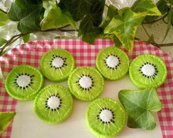 Felt Green Kiwi Slice, Decor Salad Cake Dessert Pancakes Ice Cream, Kids Kitchen, Montessori Toy, Table Party Decoration Gift, Preschool