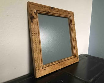 wood mirror frame. Reclaimed Wood Mirror Frame - Handcrafted Out Of Pine R