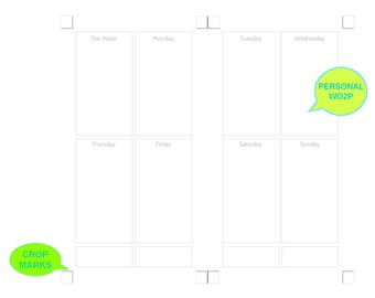 Personal UNDATED WO2P Neutral Gray Digital Planner Inserts