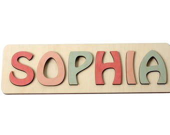Personalized Name, Puzzle Name, Personaziled Toy, Personalized Baby Name, wooden custom name puzzle