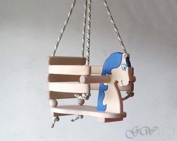Handgemachte Holzpferd Schaukel Baby Schaukel Handgemachte Etsy