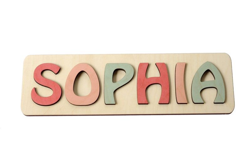 Personalized Name Puzzle Name Personalized Toy Nursery image 0