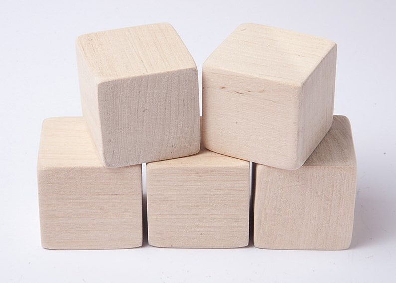 1 12 Inch 4 Cm Unfinished Wood Blocks For Wood Crafts Wooden Cubes Wood Blocks Great For Baby Showers Set Of 10 Blocks