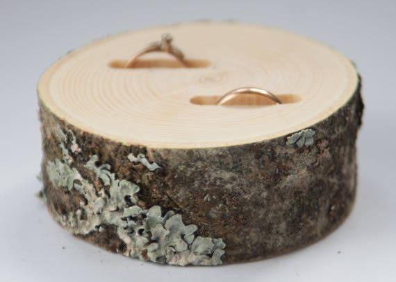 df34ca21d0 Wooden ring bearer pillow wedding ring holder rustic ring | Etsy